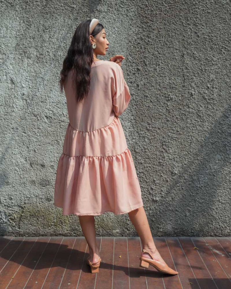 Capri Dress in Blush Nude