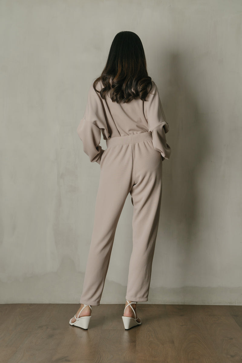 Salome Knit Highwaist Pants in Nude