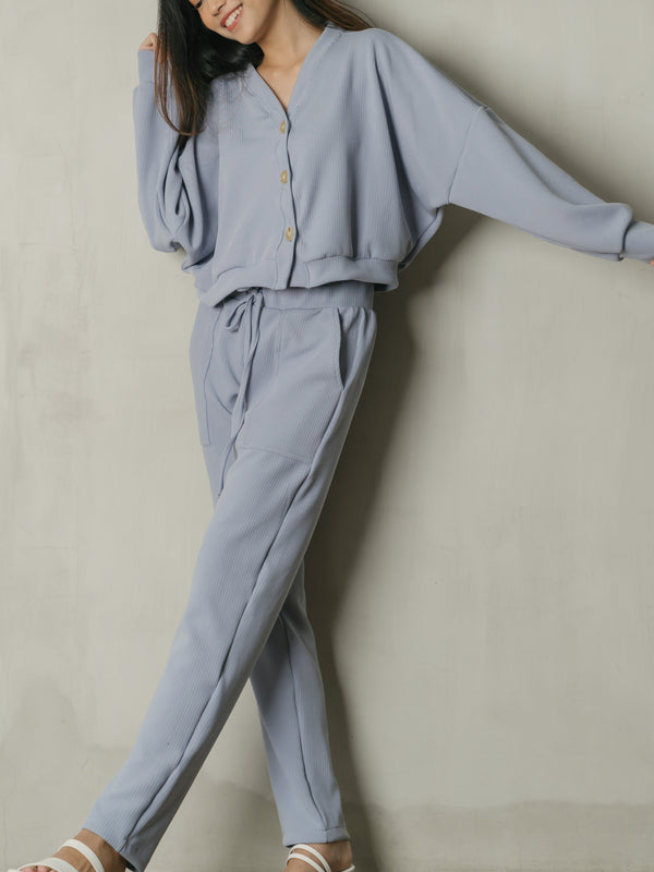Salome Knit Highwaist Pants in Powdery Lilac