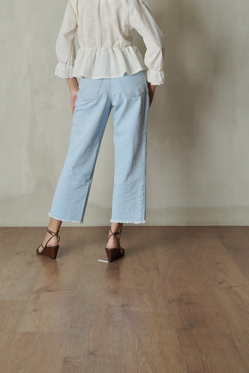 Denim Boyfriend Pants