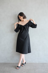 Amber Knot Multiway Dress In Jet Black