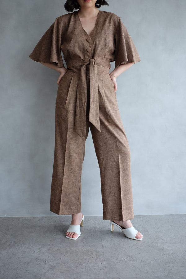 Bailey Relax Cullote Pants  In Coffee