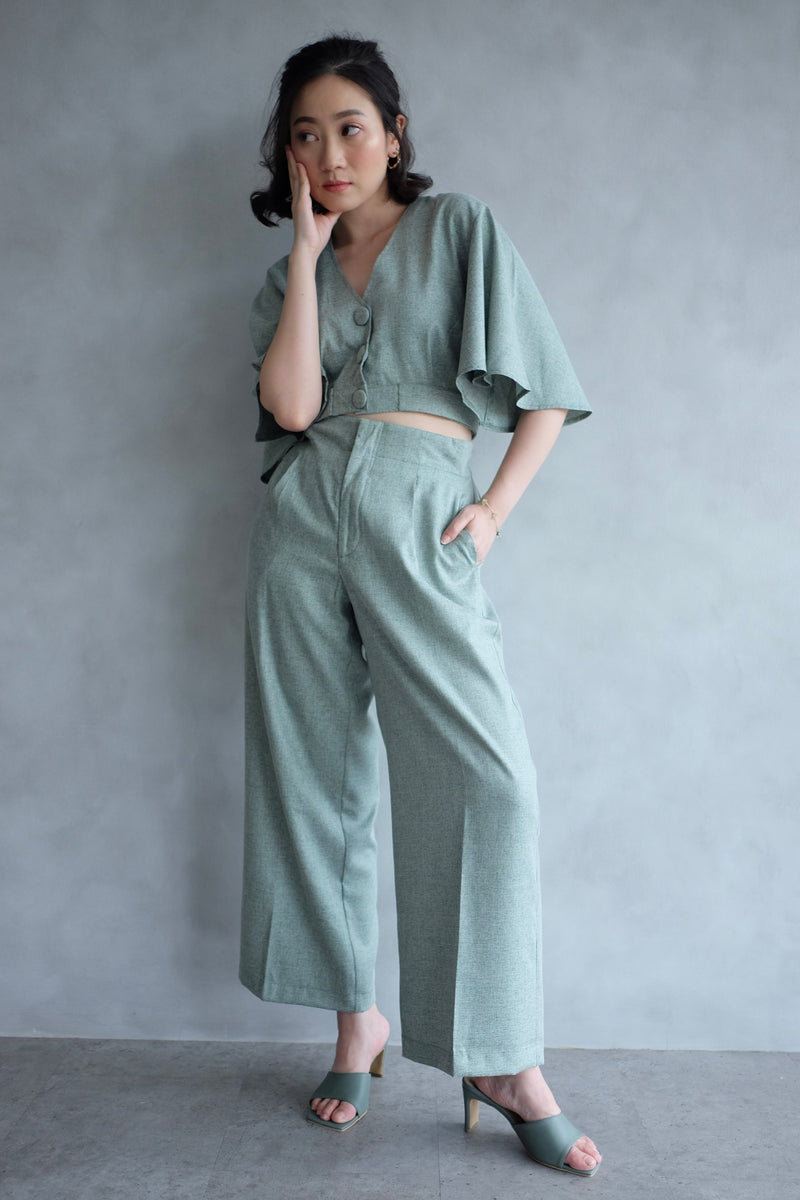 Harper Trumpet Top In Green