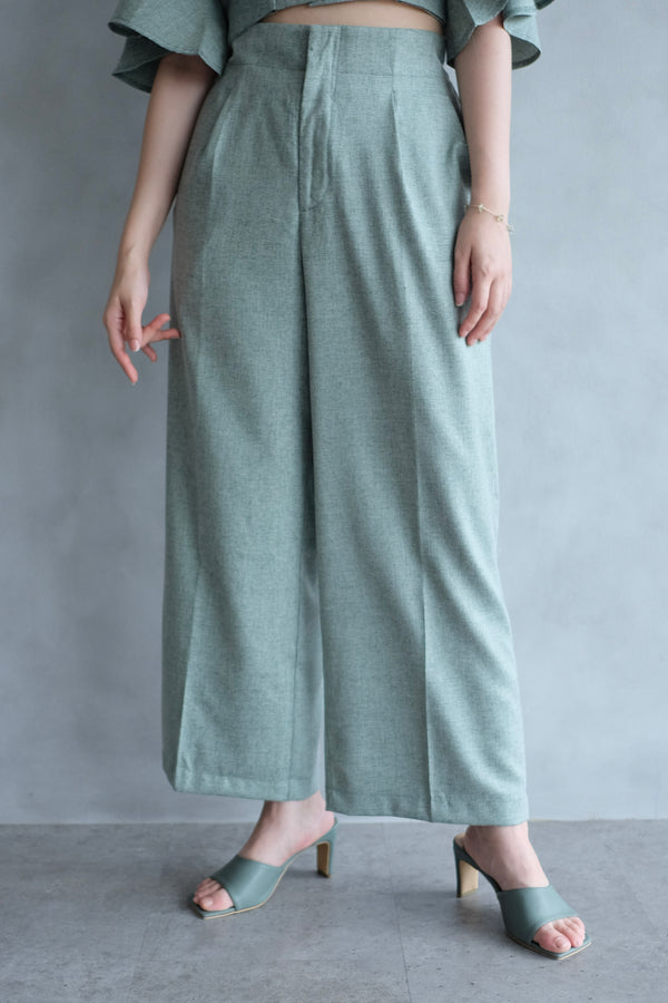 Bailey Relax Cullote Pants  In Mint Green