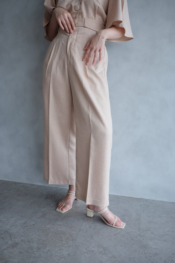 Bailey Relax Cullote Pants In Blush Nude