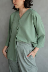 Kara Daily Top Outer In Mint Green