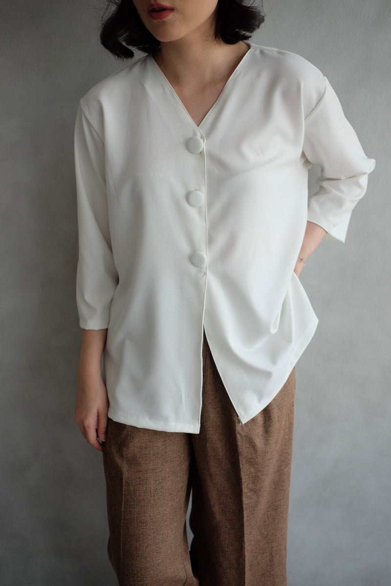 Kara Daily Top Outer In White