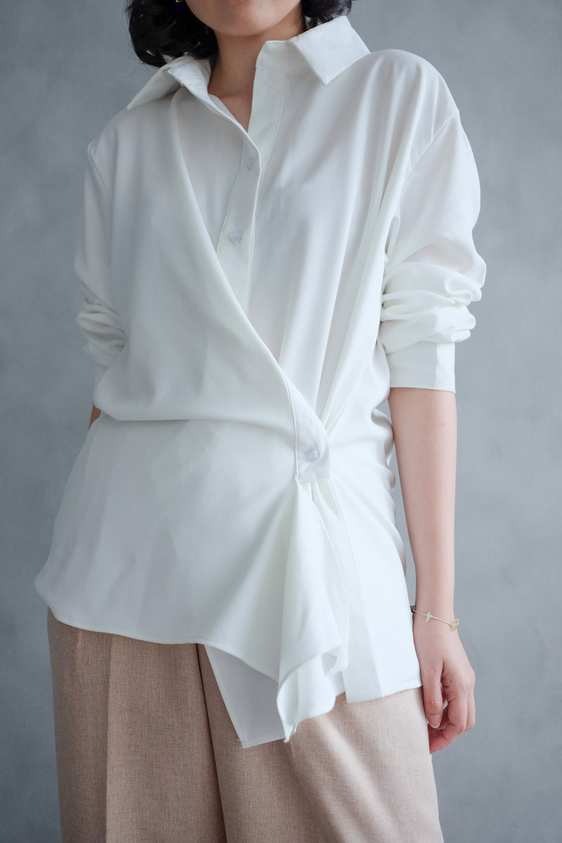 Kelly Drapery Shirt In White