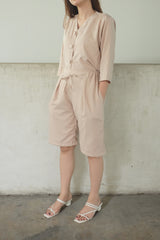 Jordan Short Cullote Pants In Blush Nude