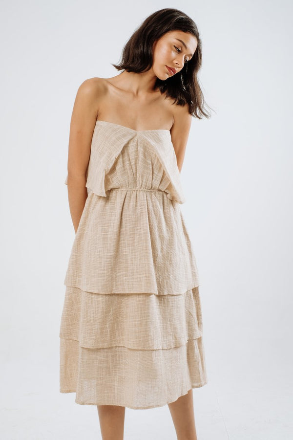 Salsa Linen Multiway Dress in Cream Beige