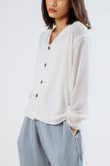 Cardigan Set Multiway in White (incl. inner)