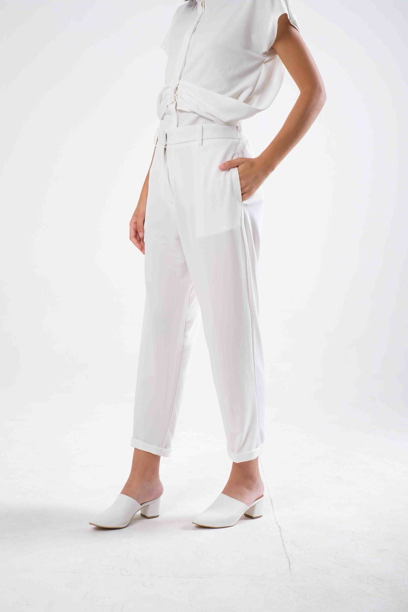Palmer Highwaist Pants in White