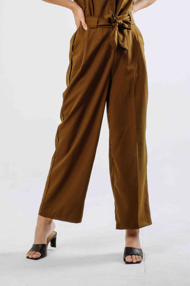 Denver Cullote Pants in Olive Green
