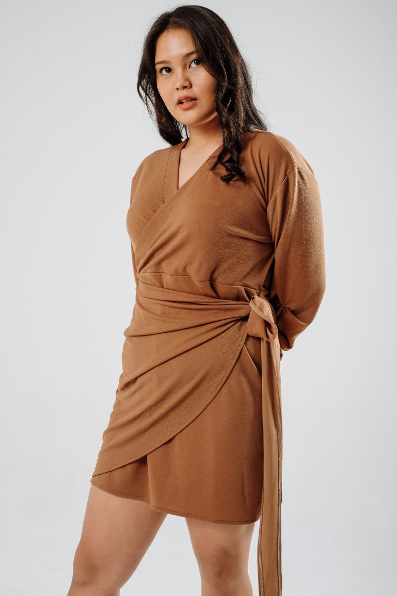 Twig Mini Dress/ Top in Sephia Brown