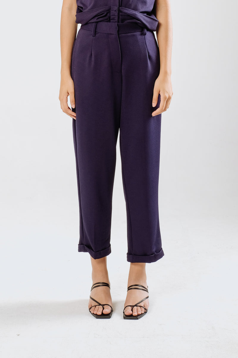 Palmer Highwaist Pants in Midnight Blue