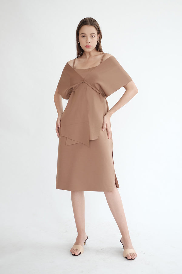 Sierra Multiway Dress in Deep Choco
