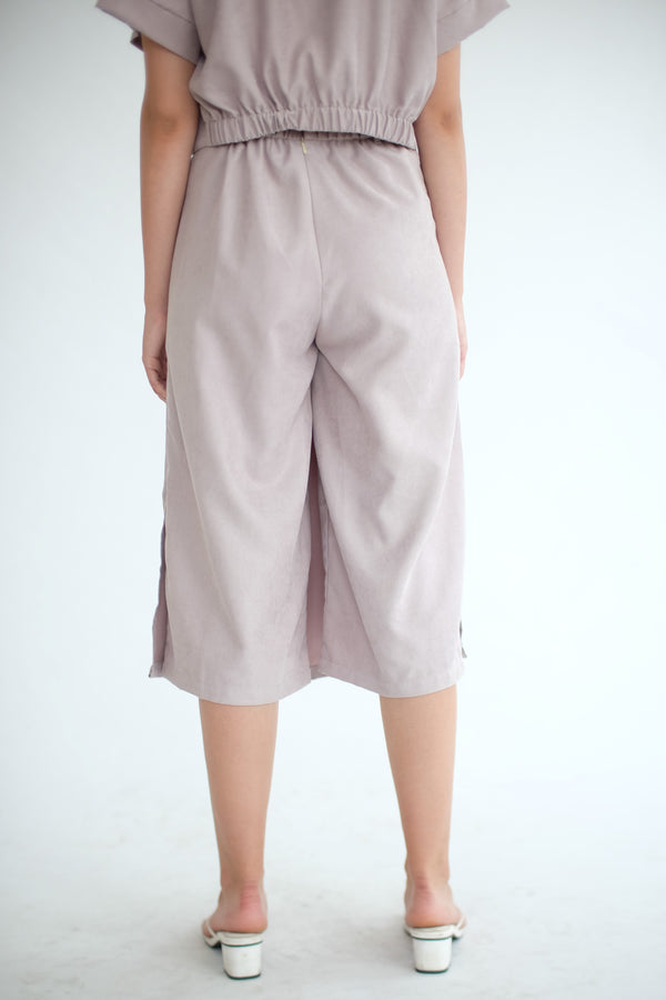 East Skirt Cullote in Ash Lilac