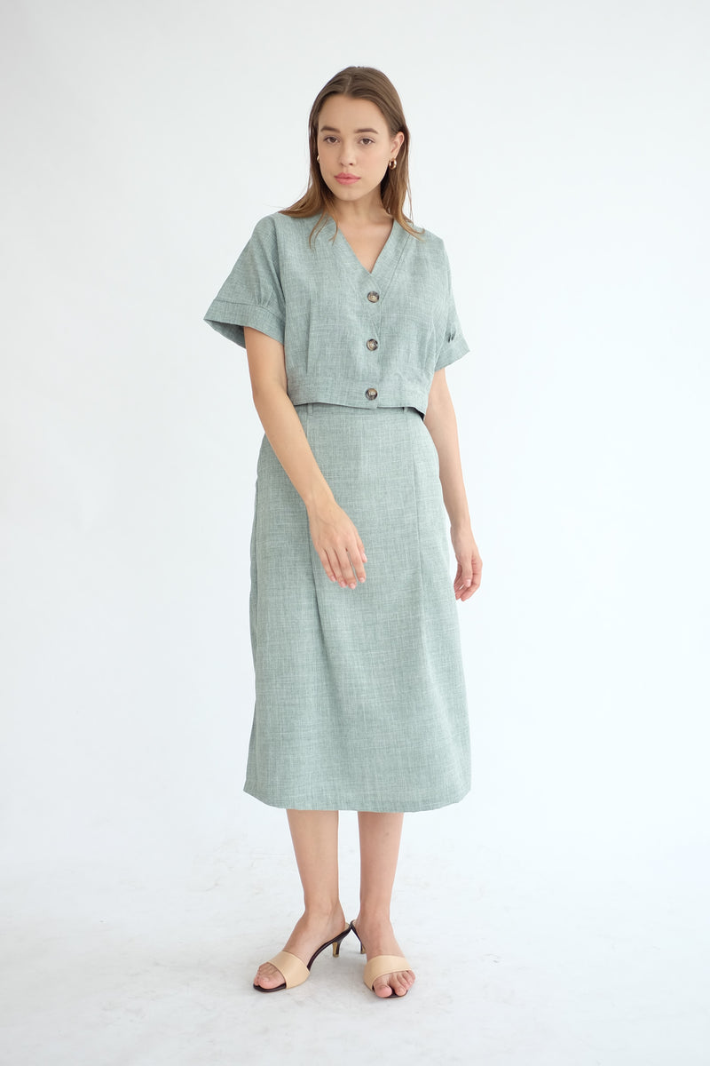 East Skirt Cullote in Sage Green
