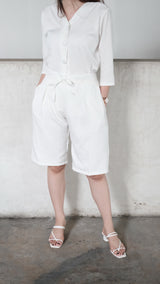Jordan Short Cullote Pants In White