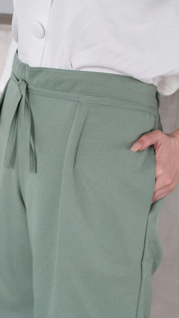 Jordan Short Cullote Pants In Mint Green