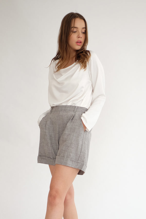 Miller Highwaist Short in Grey