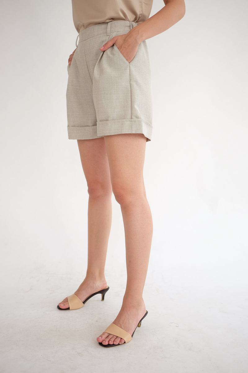 Miller Highwaist Short in Khaki