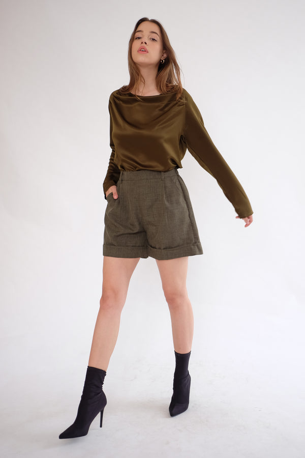 Miller Highwaist Short in Olive