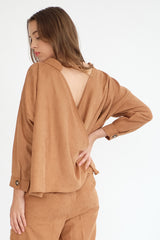 Nobel Reversible Top in Caramel