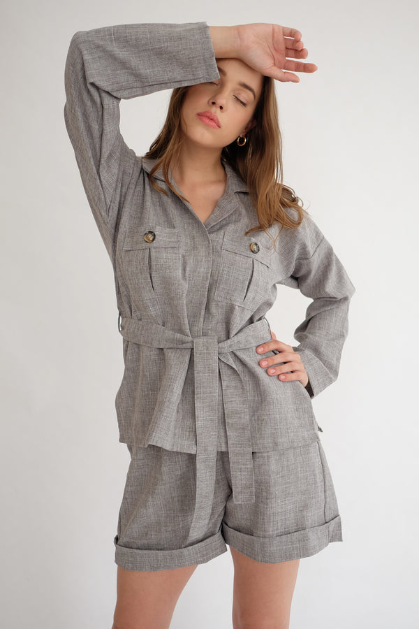 Safari Shirt in Grey (READY)