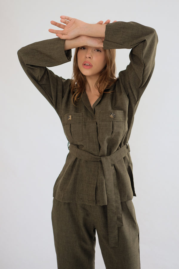 Safari Shirt in Olive