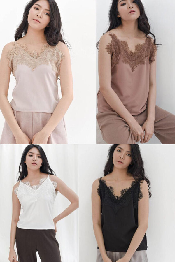 BUNDLE ALL COLORS : LACE CAMISOLE
