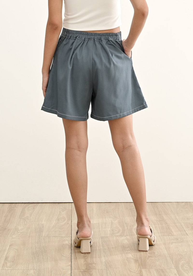 FINLEY SHORT IN DENIM BLUE  (SHIPPING FIRST WEEK OF MAY)