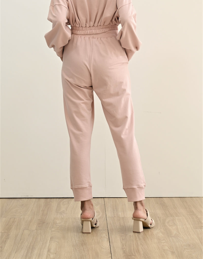 TERRY JOGGER PANTS BABY PINK (SHIPPING FIRST WEEK OF MAY)