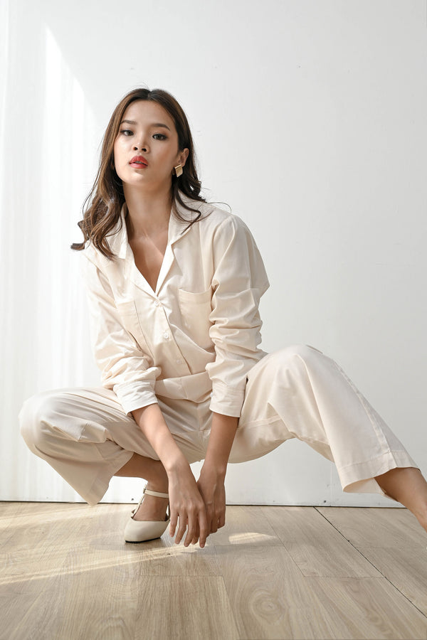 Home or Out Cool Pajama Set in Milk