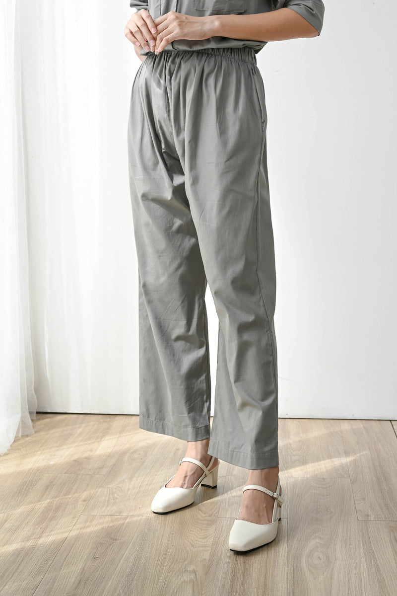 Home or Out Cool Pajama Set in Dark Sage