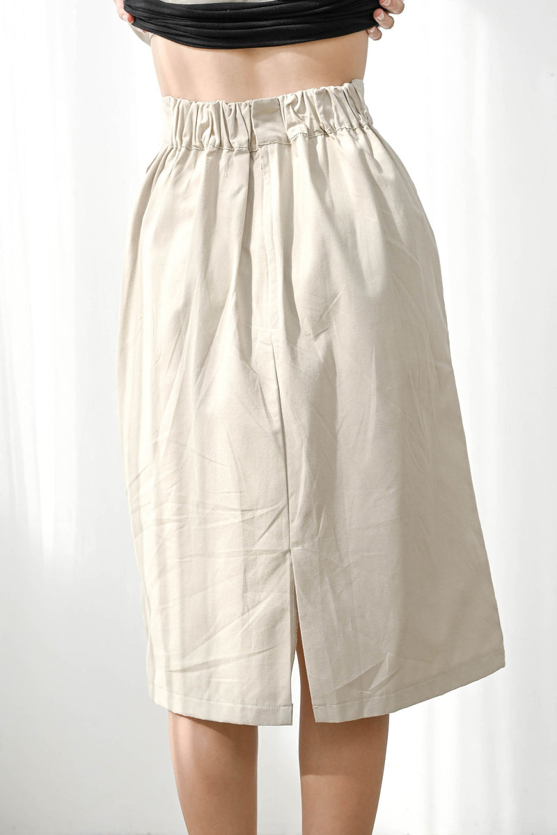 Kind Simple Midi Skirt in Broken in Sand