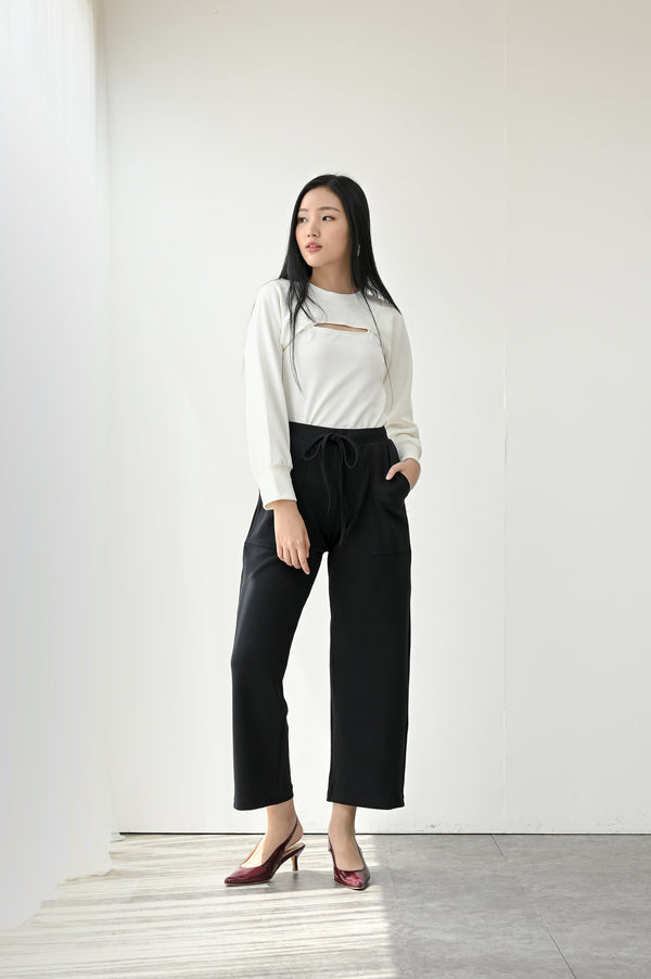 Monza Comfy Cullote Pants in Jet Black