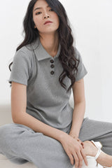Home Rib T-shirt in Grey