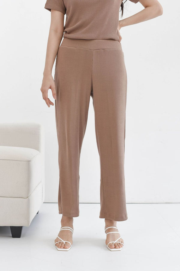 Home Rib Cullote Pants in Milo