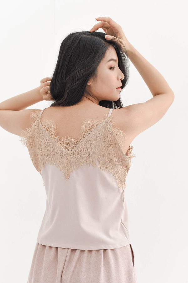 Lace Camisole in Peach Nude
