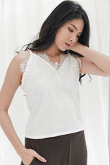 Lace Camisole in White