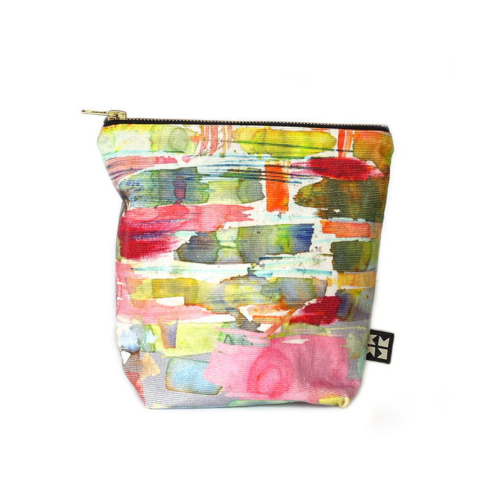 Abstract Needle Cord Makeup Bag