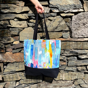 Abstract Needle Cord Shoulder Bag