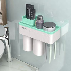 【Hot sale!!!】Bathroom Accessories Toothbrush holder Simple and space saving bathroom accessories practical home Mount Rack Bathroom Tool Set