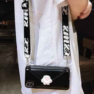 【Hot sale!!!】Cat paw cell phone bag