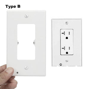 New Outlet Wall Plate With LED Night Lights-No Batteries Or Wires