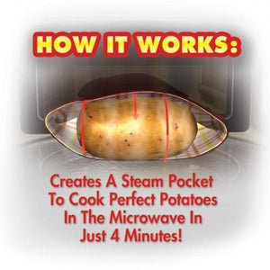 (Limited Time Offer Sale)Microwave Potato Bag - Perfect Oven Baked Potatoes in just 4 Minutes