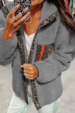Faux Fur Leoprad Jacket(2 Colors)