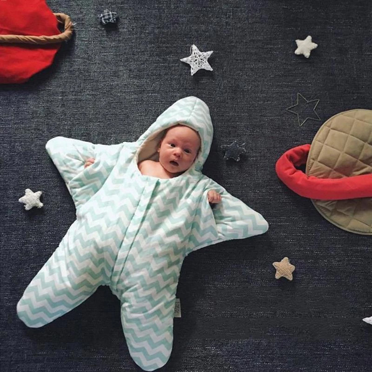 Starfish Stripe Baby Sleeping Bag
