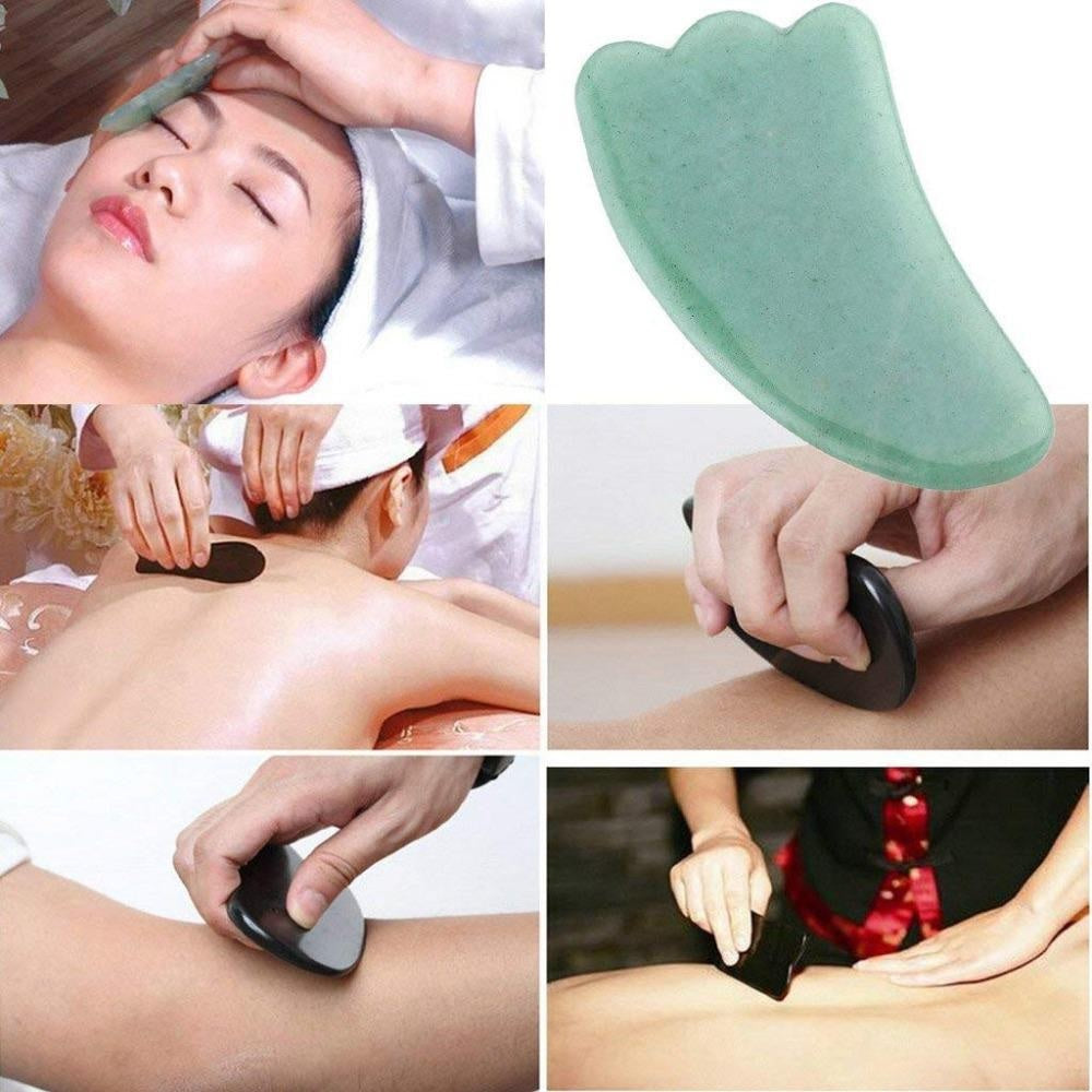 Rose Quartz Facial Scraping Gua Sha Stone